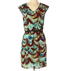 LOFT tye dye sleeveless chiffon summer dress 0P